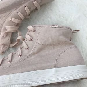 cbf823e8f209 Keds Shoes - Keds Kickstart Hi Metallic Rose Gold Linen Sneaker
